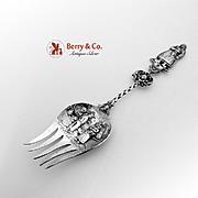 Dutch Ornate Large Serving Fork 833 Silver 1919