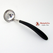 Elegant Gravy Ladle Sterling Silver Wood Mexico 1960
