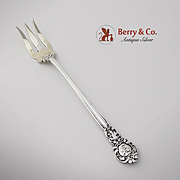 Royal Oak Cocktail Fork Sterling Silver Gorham 1902