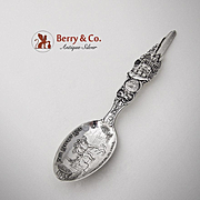 Paul Revere Boston Souvenir Spoon Sterling Silver Watson 1900
