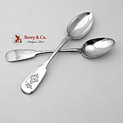 Elegant Teaspoons Russian 84 Standard Silver Pair 1888