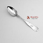 Fiddle Tipt Dessert Spoon Coin Silver C W B 1840