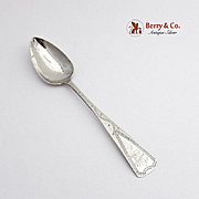 Antique Engraved Teaspoon Coin Silver William Moulton III 1770