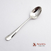 Fiddle Tipt Demitasse Spoon Sterling Silver Cooper Brothers Sons 1934