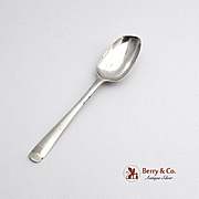 Antique Embossed Scroll Demitasse Spoon Sterling Silver England 1770
