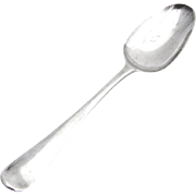 Antique Fiddle Tipt 5 O Clock Spoon Sterling Silver England 1770