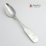 Fiddle Shell Teaspoon Coin Silver Lewes Cory 1820
