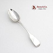 Georgian Fiddle Dessert Spoon Sterling Silver Charles Marsh 1828