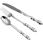 Carpenter Hall Two Person Flatware Set Sterling Silver 6 Pieces Towle 1975