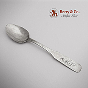 Hammered Teaspoon Coin Silver John Burger 1800