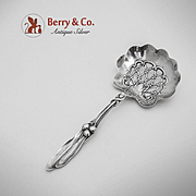 Mistletoe Bon Bon Candy Nut Spoon Sterling Silver Whiting 1900
