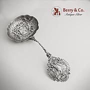 Amazing Ornate Large Sugar Sifter German Hanau 800 Silver 1890