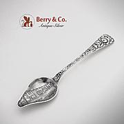 Gabriel Mission Floral Citrus Souvenir Spoon Sterling Silver Durgin 1891