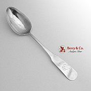 Fiddle Tablespoon Coin Silver Merriman Bailey 1817