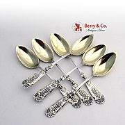 Renaissance Revival Coffee Spoons 800 Silver B G 1890