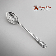 Mary II Pierced Olive Spoon Sterling Silver Lunt 1921