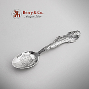 Pittsburg Pennsylvania Skyline Souvenir Spoon Sterling Silver Paye Baker 1900