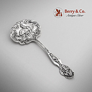 Acanthus Candy Nut Spoon Sterling Silver Shiebler 1890
