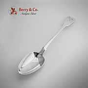Georgian Fiddle Stuffing Spoon Sterling Silver TH 1823
