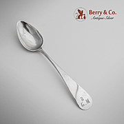 Rounded Tablespoon Italian 800 Silver 1830