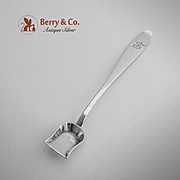 Long Handle Salt Mustard Shovel Italian 800 Silver Milan 1850