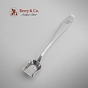 Long Handle Salt Mustard Shovel Italian 800 Silver Milan 1850