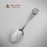 Indian Head Milwaukee Souvenir Spoon Sterling Silver CBH 1900