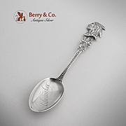 Indian Head Milwaukee Souvenir Spoon Sterling Silver CBH 1900