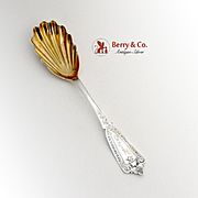 Ivy Berry Casserole Spoon Sterling Silver Whiting 1865