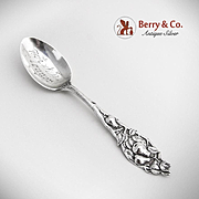 Pear Fruit Teaspoon Sterling Silver Watson 1904