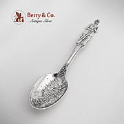 Special Civil War Battle Of Gettysburg Union Soldier Souvenir Spoon Sterling Silver Alvin 1913