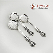 Old Colonial 3 Chocolate Spoons Sterling Silver Towle Silversmiths 1895