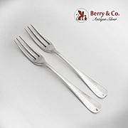 Queen Ann Williamsburg 2 Dinner Forks Sterling Silver Stieff 1940
