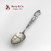 Indian Full Figural Souvenir Spoon Canada Alberta Sterling Silver 1910