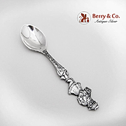 Merry Christmas Santa Claus Demitasse Spoon Sterling Silver Joseph Mayer Seattle 1905