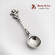 Cupid Salt Spoon 800 Silver Germany 1900