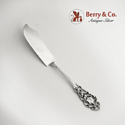 Ornate Master Butter Knife Sterling Silver Open Work Designs