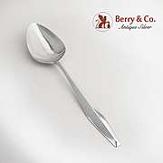 Diamond Serving Spoon Sterling Silver Reed and Barton 1958