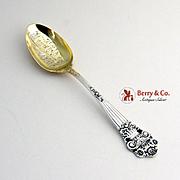 Towle Georgian Coffee Spoon Mansfield Ohio Gilt Bowl 1898 Sterling Silver