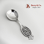 Dragon Serving Spoon Magnus Aase 830 Standard Silver Norway 1950