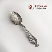 Figural Toreador Souvenir Spoon Sterling Silver Phoenix Bowl 1900