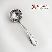 Aesthetic Gravy Ladle Engraved Bird Nightingale Sterling Silver Gorham 1885
