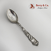 Mistletoe Teaspoon Sterling Silver Alvin 1900