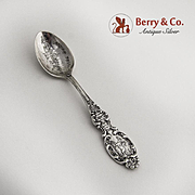 Boston Souvenir Demitasse Spoon Sterling Silver Paul Revere Handle Alvin 1900