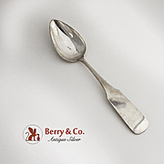 Antique Silver Table Spoon German Wilcken 1861