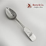 Coin Silver Table Spoon NY 1840 Wm Jones SC Retailer
