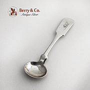 Coin Silver Master Salt Spoon 1860