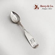 Miniature Coin Silver Doll House Spoon 1860