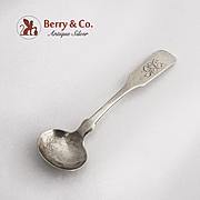 Coin Silver Master Salt Spoon 1860 E F Miller Providence RI