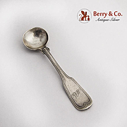 Fiddle Thread Coin Silver Master Salt Spoon 1860